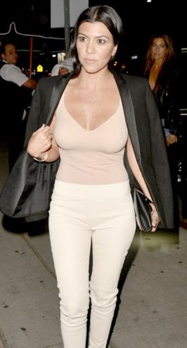 Kourtney Krdashian Daisy Dukes by day plunging Tops at night