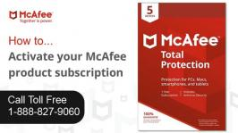 McAfee allows you to monitor your computer's security status, know instantly whether your computer's virus, spyware, e-mail, and firewall protection services are up-to-date. It is a program which can use to protect your computer files, programs, and email from viruses and malicious software. You can purchase any McAfee antivirus to install on single or multiple devices in your home or workspace. For any help regarding McAfee product key, visit McAfee Activate website or call customer toll-free number 888-827-9060.