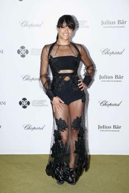 Michelle Rodriguez Leonardo DiCaprio's Charity Gala