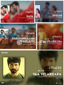 Velaikkaran Songs Tracklist has been revealed. And the big news is that the audio release will happen tomorrow at chennai.