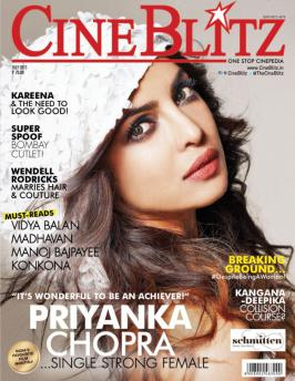 Priyanka Chopra Looking Angelic on CineBlitz Cover July 2015.We have seen the actress stun us as a bombshell turned cop in Gunday,