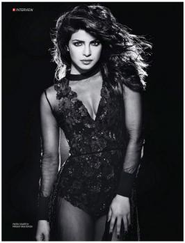 Priyanka Chopra Poses for Filmfare Magazine, Photos, Actress, Bollywood, 2015, December, Photoshoot Pics