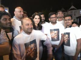 Raashi Khanna had watched the movie Jai Lava Kusa with the fans locating in London. Where she had acted in this movie.