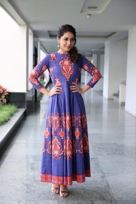 Rashi Khanna Tollywood Actress Looks awesome in this coloured dress.She started her calling with the movie Oohalu gusagusalade film backwards to Naga shourya.
