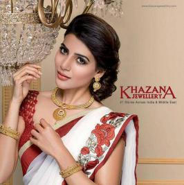 Samantha poses for Khazana Jewellery, Khazana Jewellery Ads, Photo Shoot, 2015