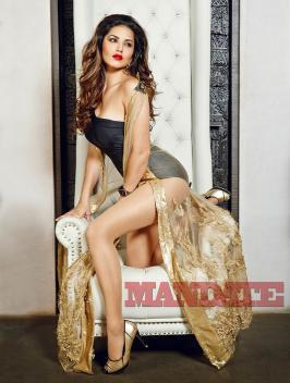 Sunny Leone Poses for Mandate Magazine, December 2015, Actress, Model, Latest, New Photoshoot Pics, Images, Stills