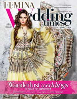 Tamannaah Bhatia on the Cover of Femina Wedding Times Magazine July 2015.One of the prettiest actors in Indian film industry is Tamannaah Bhatia
