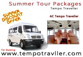 tempo traveller hire in Delhi with affordable rates get best rate for summer tour packages, our tempo traveller is ready to your service for this summer season, well maintained vehicle chilled AC will make your summer tour memorable by hiring online our tempo traveller more detail visit at www.tempotravller.com