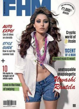 Bollywood Actress Urvashi Rautela Hot Posses For FHM Magazine cover. Her last Hate Story 4 did not well at Indian box office.