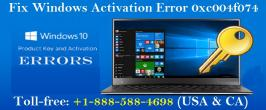 To know How to Fix Windows Activation Error 0xc004f074 study this blog or call 1-888-588-4698 for online support to fix Windows activation error codes.