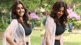 Nikki Galrani Stills At Kalakalappu 2 Press Meet: It doesn't get any hotter than Sexy Nikki Galrani and this gallery of her sexiest photos.