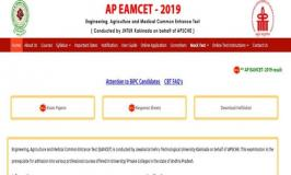 Andhra Pradesh State Engineering Agriculture Medical Common Entrance Test AP EAMCET Result 2019 released @sche.ap.gov.in, manabadi.com