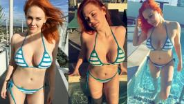 Bikini photos of Maitland Ward Baxter from Instagram on11/17/2017.Maitland Ward is an American actress. She is known for playing Rachel McGuire on the ABC