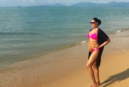 Bipasha Basu posted a picture of herself in a pink bikini, looking super hot, at a beach in Maldives where the actress had been vacationing this holiday seas...