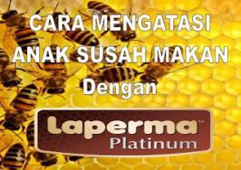 Salah satu cara aman dan praktis untuk mengatasi masalah anak susah makan adalah dengan menggunakan produk Laperma Platinum yang mengandung madu asli.