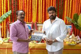 Chiranjeevi 150th Movie Launch Photos, Mega Star, Chiru, Ramcharan, Allu Arjun, Chirnjeevi Family konidela Production Company, Film Opening Pooja, Telugu