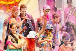 popular British rock group Coldplay comprising of Chris Martin, Guy Berryman, Jonny Buckland and Will Champion were in Mumbai to shoot a music video for thei...