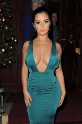 Demi Rose in Green Dress
