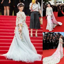 Fan Bingbing most beautiful dressed in Cannes 2015.