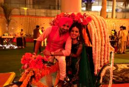 Harbhajan Singh and long-time girlfriend Geeta Basra exchanged wedding rings at a lavish ceremony in Jalandhar on Wednesday evening. The veteran off-spinner ...