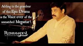 Chiranjeevi's Voice Over Becomes a Big Sentiment, Rudhramadevi, India's first 3D films, Tollywood, 1984