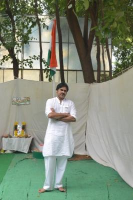 Janasena Party Chief Flag Hoisting In Party Office Photo's – Tollywood Chat