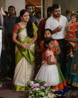 Celebs Jyothika Surya, Sivakumar, Karthi, Santhanu, Rama Krishnan, Dharani, Santhosh Narayanan, N Lingusamy, Director Charan, Prabhu, Raj Kiran, Karthik Srinivasan Producer SR Prabhu Wedding Reception Photos, Wedding, Marriage REception, Tamil