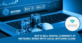 We, at Blockchain App Factory, bestow you with the best-in-class local bitcoin clone script which is a quick cost-effective white-label solution to your exchange fix. Launch your own exchange platform