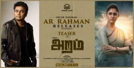 Nayanthara has been the talk of the town for quite some time now, thanks to the great reception for her Dora. Despite receiving mixed reviews, the movie is having a good run and a good opening at the box office. The lady superstar's next film Aram is having its teaser released tomorrow by none other than A.R.Rahman.