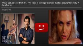 Ram Gopal Varma's God Sex and Truth Trailer Removed from YouTube (GST Full Movie 2018) starring American adult star Mia Malkova. Recently the Scriptwriter P Jaya Kumar accused RGV of plagiarising his work. According to him, RGV had also sexually harassed him and many others.