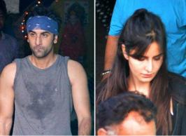 Ranbir Kapoor and Katrina Kaif who have  split  in January this year were spotted together at Ganesh Acharya's dance academy in Mumbai. The ex-lovers were snapped by cameramen- while they were on their way out after the rehearsals.