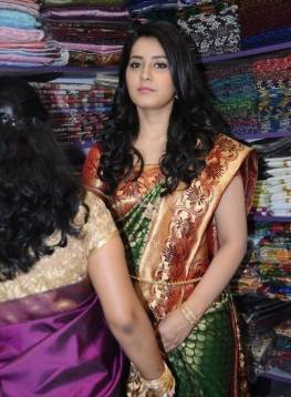 Rashi Khanna Launches Vastralakshmi Wedding Mall, Rashi Khanna Launches Vastralakshmi Wedding Mall Photos, Rashi Khanna Launches Vastralakshmi Wedding Mall At Karimnagar, Rashi Khanna Photos