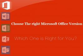 Microsoft Office versions is developed to work with cloud services as well, especially Microsoft's SkyDrive. However, deciding which version to go with should be based on your requirements.