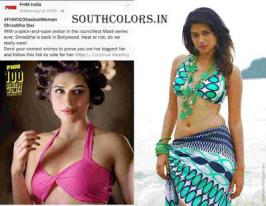 Sizzling Actress Shraddha Das has now 100 sexiest women in the world.