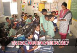 TSPSC will soon release a notification for tsdsc government teachers to fill around 17000 posts. TS DSC 2017 vacancy list