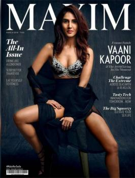 Latest Vaani Kapoor Hot Stunning Look on Maxim India 2018 will make men go weak at their knees. The shapely beauty has done some sizzling photo shoots in the past and this one will surely rank up there at the top. Vaani Kapoor Sexy Hot Photoshoot on Maxim Cover Page 2018