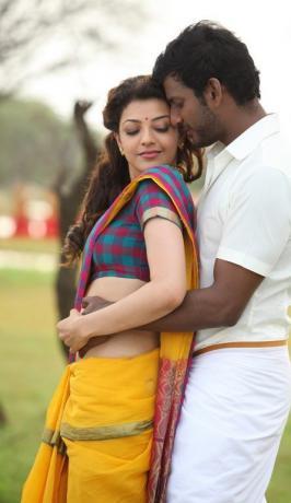 Paayum Puli Movie Stills, Tamil Film Paayum Puli Pics, Vishal in Paayum Puli, Paayum Puli New Photos, Kajal Agarwal's Paayum Puli Cute Hot Images