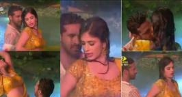 Bigg Boss 11 Finale: Puneesh - Bandgi HOT pool Dance: Big Boss 11 BandgiandPuneeshrekindle their romance with a performance to Mohra'sTip Tip Barsa Pani.