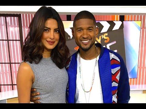 Priyanka Chopra meets American singer Usher - YouTube