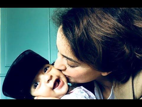Kangana Ranaut with nephew Prithvi - YouTube