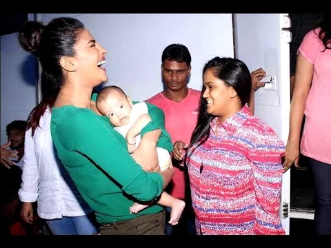 Priyanka with Arpita Khan Sharma and baby Ahil - YouTube