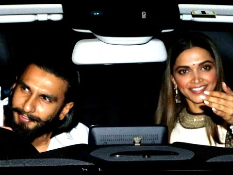 Deepika Padukone and Ranveer Singh drove together at Karan Johar's party - YouTube