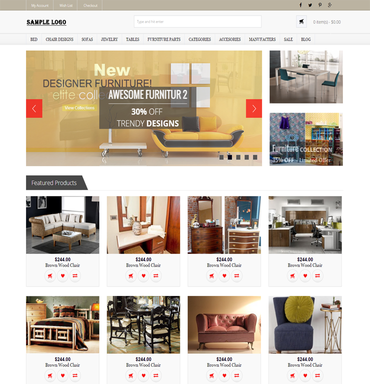 Online E-Commerce website Templates