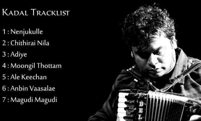 Kadal Complete Audio Track List
