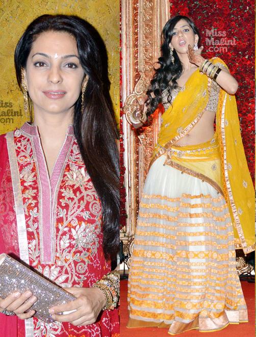 Spotted Juhi Chawla Hema Malini Nishka Lulla Amp More At Durga JasrajEURTMs DaughterEURTMs Wedding