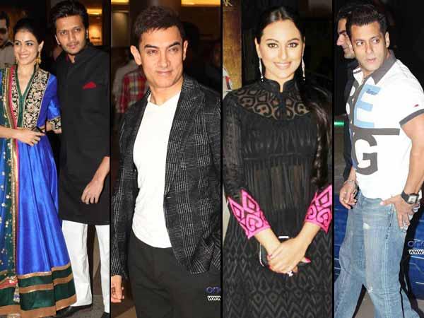 Pictures: Aamir, Salman, Sonakshi at Dabangg 2 premiere - Oneindia Entertainment