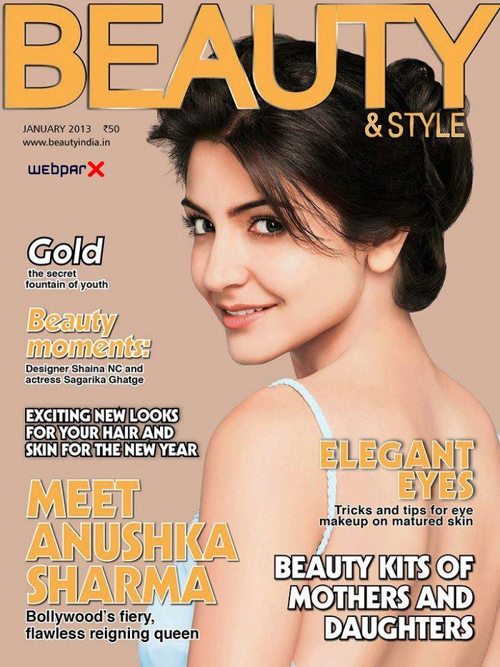 Anushka Sharma on Beauty and Style Magazine Cover Page January 2013 - cutmirchi.com