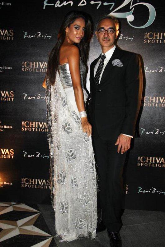 Designer Ravi Bajaj Celebrates 25 Years in Indian Fashion at Chivas Spotlight