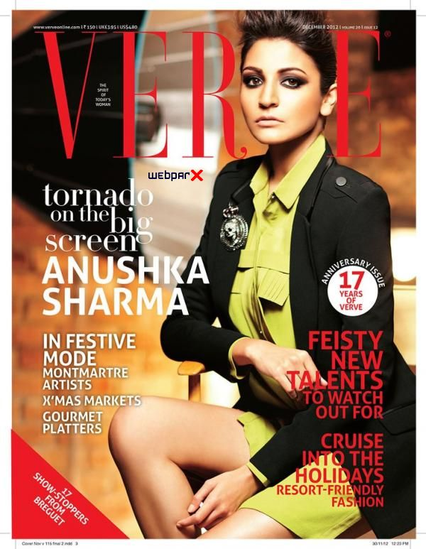 Anushka Sharma Photoshoot for Verve Magazine 2013