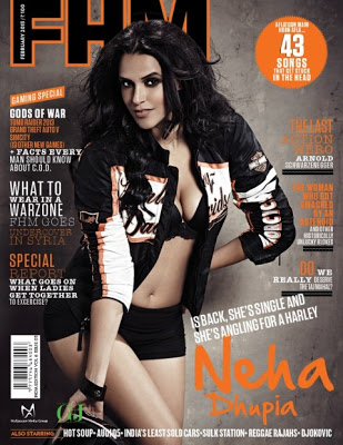 Neha Dhupia Hot On FHM Magazine Feb 2013 Coverpage ~ Cinemaawood